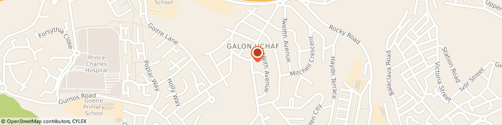 Route/map/directions to The Trading Post, CF47 9TP Merthyr Tydfil, Galon Uchaf Road