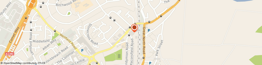 Route/map/directions to Worldwide Healthcare Exchange, AL10 8YD Hatfield, The Colonnades, Beaconsfield Close