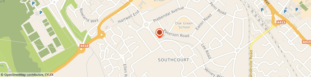 Route/map/directions to P W Auto Electrical, HP21 8NF Aylesbury, 45 Churchill Ave