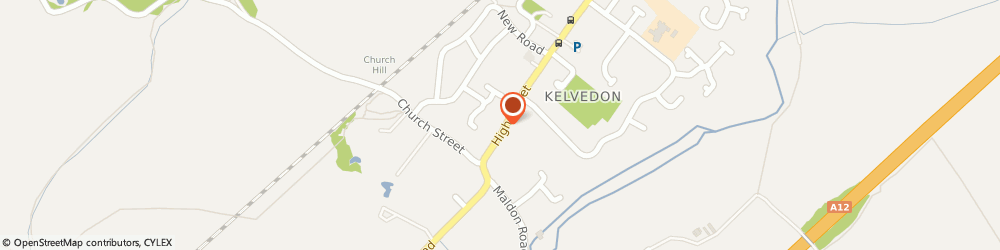 Route/map/directions to Royal Mail, CO5 9JB Colchester, 17 High Street, Kelvedon