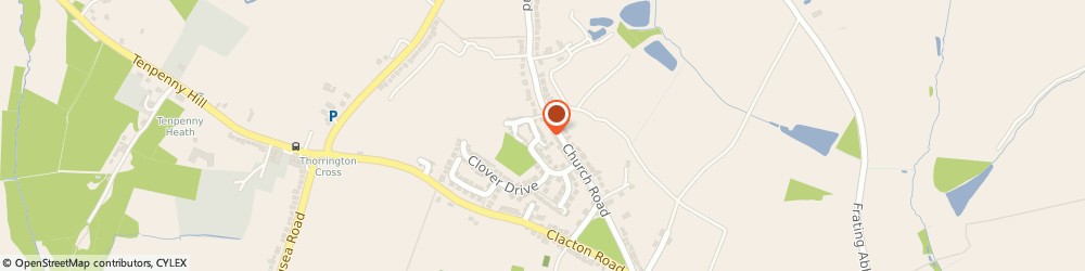 Route/map/directions to Darrans Plumbing & Heating, CO7 8HJ Colchester, 32 Hazel Close, Thorrington
