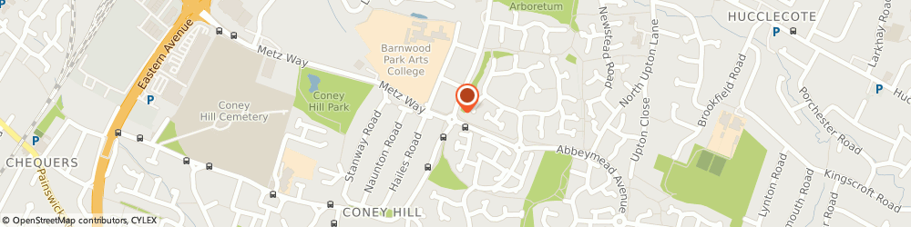 Route/map/directions to Laser Alarms Ltd, GL4 4LT Gloucester, 86 Coney Hill Rd