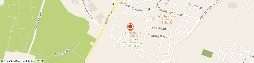 Route/map/directions to St Michael's Primary School and Nursery, CO2 9RA Colchester, Camulodunum Way