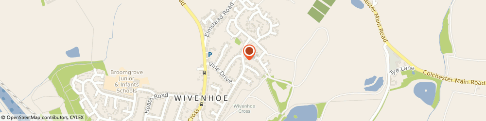 Route/map/directions to Jacqueline South, CO7 9HN Wivenhoe, 24 Mede Way
