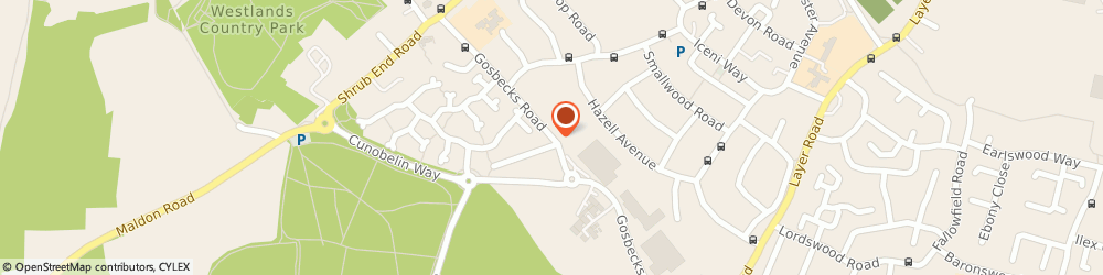 Route/map/directions to Air Care Products Ltd, CO2 9JT Colchester, 111 GOSBECKS ROAD