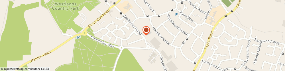 Route/map/directions to Cowdray Car Centre, CO2 9JS Colchester, 83 Gosbecks Rd
