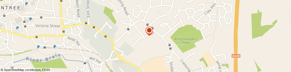 Route/map/directions to Braintree Town Football Club, CM7 3DE Braintree, Cressing Road Stadium, off Clockhouse Way