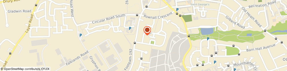 Route/map/directions to Brian's TV Aerials, CO2 7PG Colchester, 72 King George Road