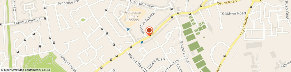 Route/map/directions to Lime Residential Limited, CO3 4NG Colchester, 2 WINSTON AVENUE