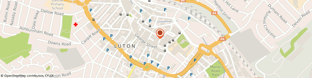 Route/map/directions to Muffin Break, LU1 2LJ Luton, 184A, Bute Square, The Mall