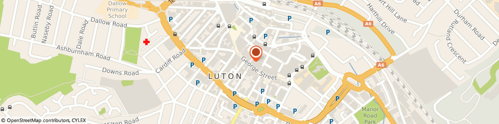 Route/map/directions to GO Coffee, LU1 2TQ Luton, 37 The Mall