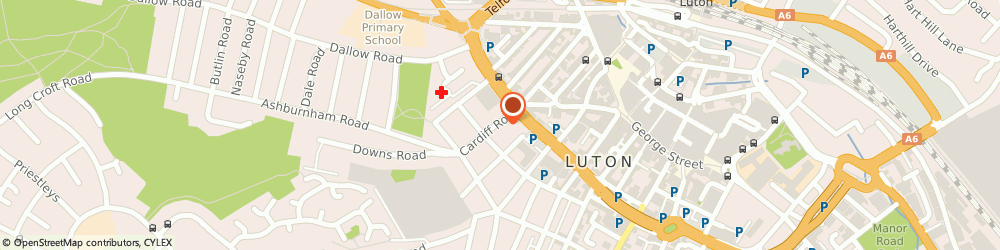 Route/map/directions to City Cars, LU1 1PP Luton, 19, Cardiff Rd