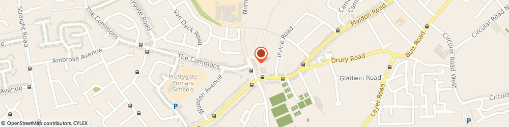 Route/map/directions to Eagles Wings, CO3 4PS Colchester, 7 NORMAN WAY