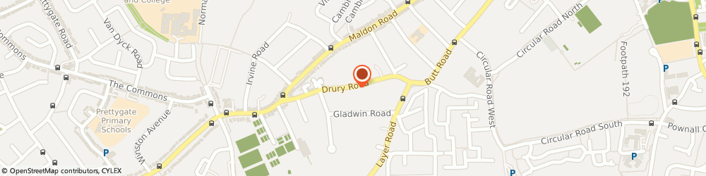 Route/map/directions to Adore Your Pelvic Floor, CO2 7UU Colchester, 42 Drury Rd