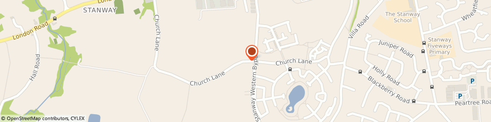 Route/map/directions to Safe & Sound, CO3 8LR Stanway, CHURCH LANE