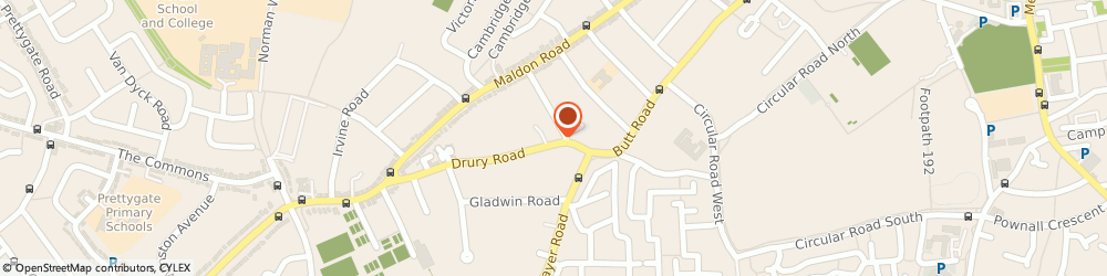 Route/map/directions to Medusa, CO2 7UY Colchester, 23C Drury Rd