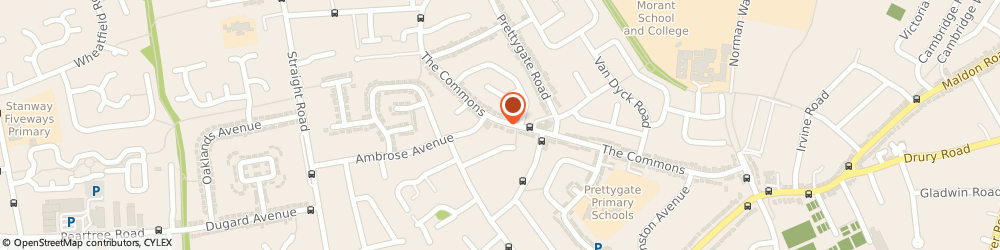 Route/map/directions to Torch on Roofing Ltd, CO3 4NT Colchester, 107 The Commons