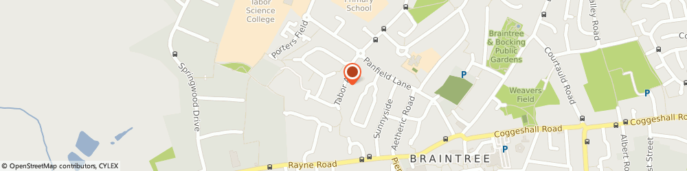 Route/map/directions to Essex PAT Testing Braintree, CM7 2SX Braintree, TABOR AVENUE