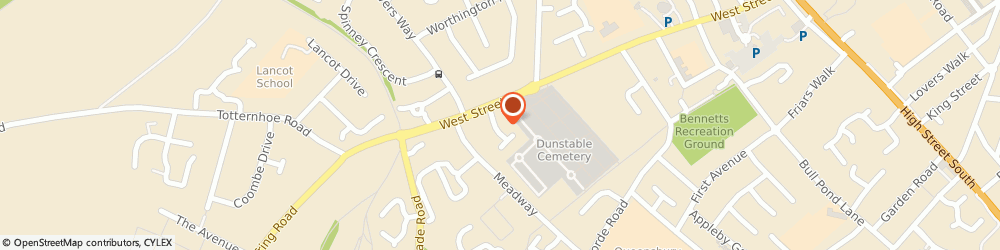 Route/map/directions to The Really Special Cake Company Limited, LU6 1QD Dunstable, 53 Catchacre