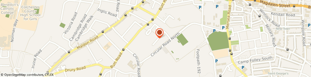 Route/map/directions to Mr Gregory Sharp Colchester Osteopathic Centre, CO2 7GH Colchester, 15 Cavalry Road