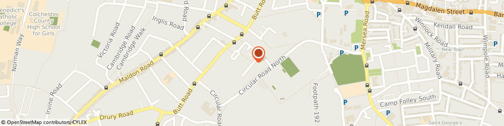 Route/map/directions to G J Sharp, CO2 7GH Colchester, Creffield Medical Centre, 15 Cavalry Road
