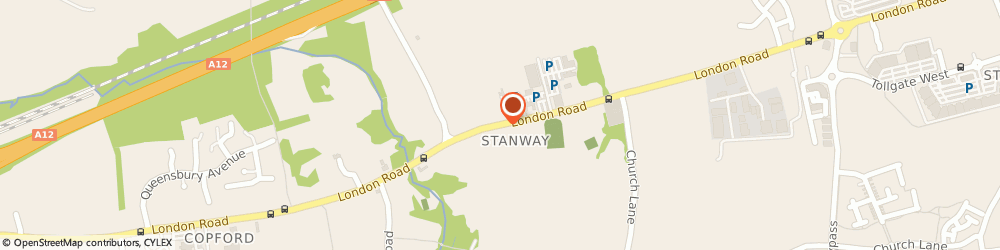 Route/map/directions to Exterior Plastics, CO3 8LT Stanway, LONDON ROAD
