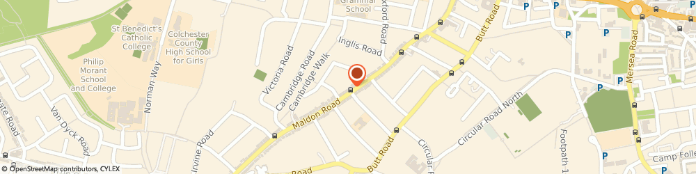 Route/map/directions to HighSpace, CO3 3AX Colchester, 125 MALDON ROAD
