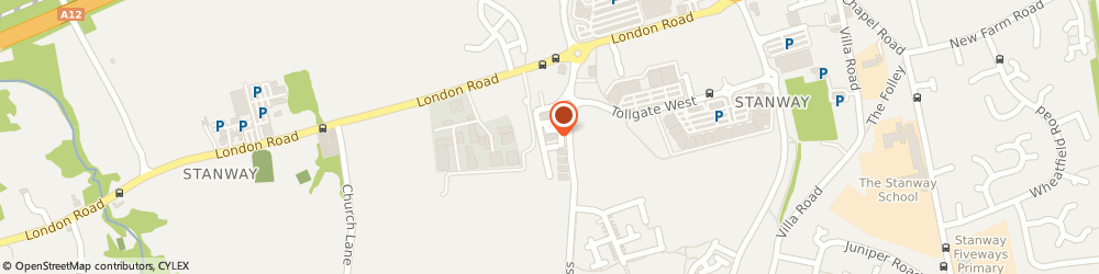 Route/map/directions to OPMjobs Ltd, CO3 8AB Colchester, Unit 5, Tollgate Business Park
