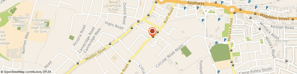 Route/map/directions to Wilco Motor Spares, CO3 3DL Colchester, 115 Butt Road