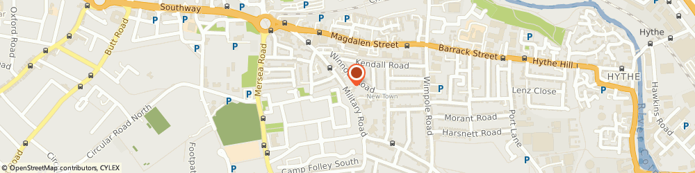 Route/map/directions to Privacy Hairdressers, CO1 2AN Colchester, 48A Military Road
