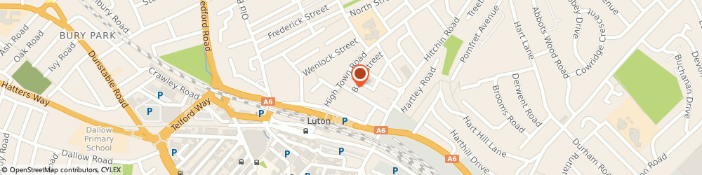 Route/map/directions to F S O Garage, LU2 0HN Luton, 1 Burr St