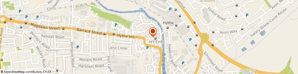 Route/map/directions to 2 Wheels Limited, CO1 2NP Colchester, 120A HYTHE HILL