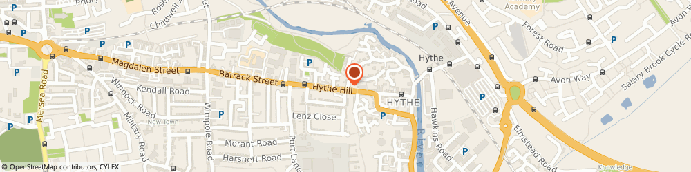 Route/map/directions to MINTY STUDIOS LTD, CO1 2NF Colchester, 134 Hythe Hill