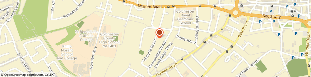 Route/map/directions to Lexden Health Nick Foulds, CO3 3NT Colchester, 10 Victoria Road