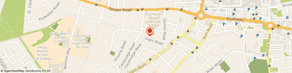 Route/map/directions to Gordon Rodgers & Co, CO3 3HU Colchester, 36 INGLIS ROAD
