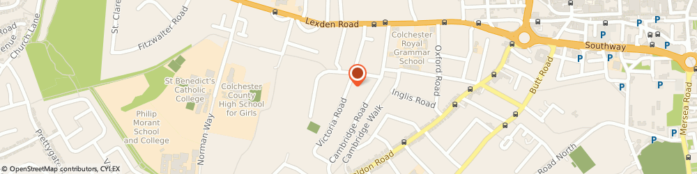 Route/map/directions to Green Shoots Properties Limited, CO3 3NT Colchester, FLAT 1, 6 VICTORIA ROAD
