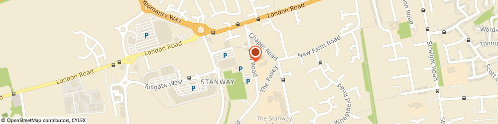 Route/map/directions to Stanway Scout Head Quarters, CO3 0RW Stanway, THE SCOUT HALL, VILLA ROAD