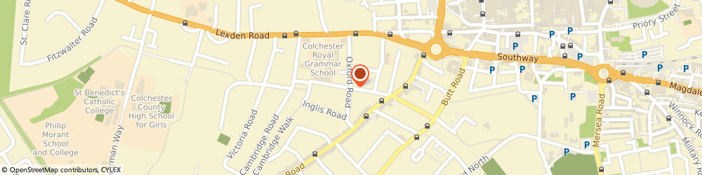 Route/map/directions to Colchester Mind Oxford Road Project, CO3 3HN Colchester, 7 Oxford Road
