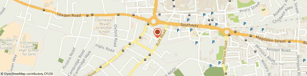 Route/map/directions to All Round Roofing Services, CO3 3DF Colchester, 33 Alexandra Road