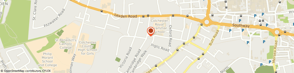 Route/map/directions to Probuild, CO3 3NG Colchester, 1 Beverley Road, Cedar Centre