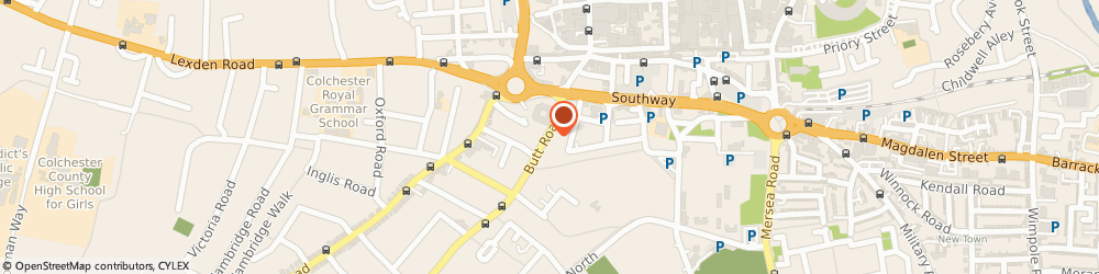 Route/map/directions to CORE CONSULTANCY SERVICES LTD, CO3 3DA Colchester, WELLINGTON HOUSE, 90-92 BUTT ROAD