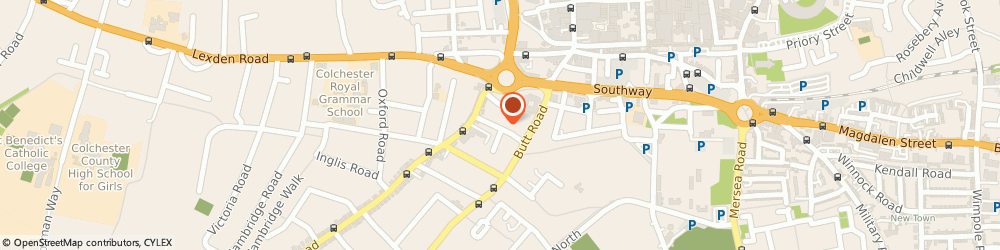 Route/map/directions to CHARLES BATES (KENT) LTD, CO3 3DB Colchester, 6 Alexandra Road