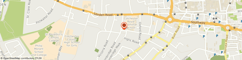 Route/map/directions to Red Pool Limited, CO3 3NG Colchester, 3 BEVERLEY ROAD