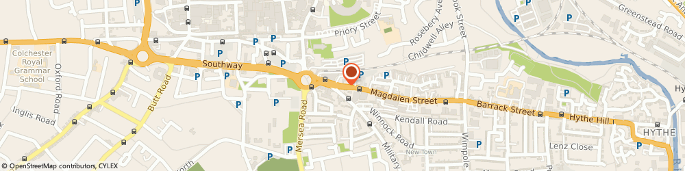 Route/map/directions to Robertson Van Hire, CO1 2LD Colchester, 23 Magdalen St