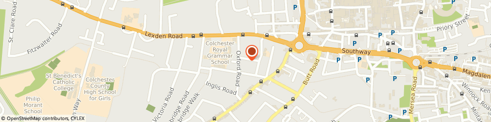 Route/map/directions to Lexden Chiropractic & Back Pain Clinic, CO3 3HR Colchester, 1a Gray Rd