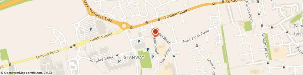 Route/map/directions to The Fringe Unisex Hair & Beauty Salon, CO3 0RH Stanway, 14 Villa Rd