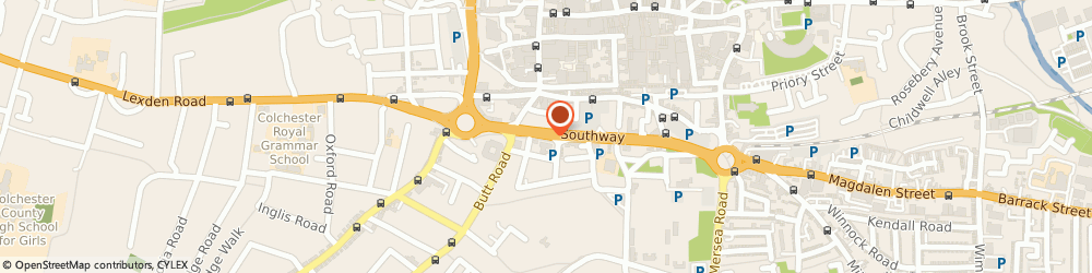Route/map/directions to Rs Building Services Ltd, CO2 7BA Colchester, GROUND FLOOR SOUTHWAY HOUSE, 29 SOUTHWAY