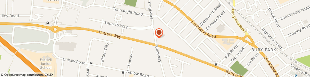 Route/map/directions to New Space Commercial Designs Ltd, LU4 8HA Luton, KINGSWAY