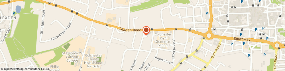 Route/map/directions to West Lodge Garage Ltd, CO3 3NL Colchester, WEST LODGE ROAD