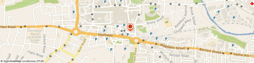 Route/map/directions to Tara Traders, CO2 7DP Colchester, 2 OSBORNE STREET